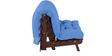 Work Single Futon with Mattress Blue Colour by Auspicious