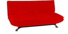 Wonder 3 Seater Sofa Bed in Red Colour by Furny