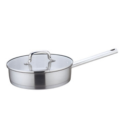 Wonderchef Inox Frying Pan With Glass Lid 24cm By Chef Sanjeev Kapoor