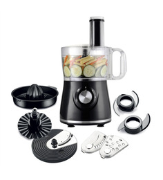 Wonderchef Prato Black 500W 7-in-1 Food Processor