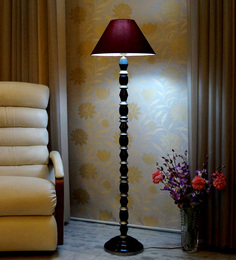 Woody Lamp House Maroon Poly Cotton Floor Lamp - 1517727