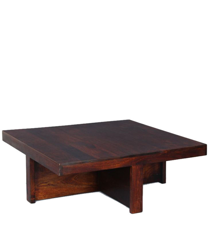 Wooden Square Coffee Table Set In Walnut Finish By House Of Furniture By House Of Furniture