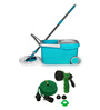 Wonder Spin MOP With Unbreakable 30 Foot Water Spray Gun Multicolour