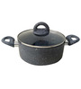 Wonderchef Granite Casserole With Lid 24Cm Aluminium