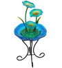 Wonderland 3 Blue Flower Fountain with Stand & Motor