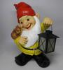 Wonderland Gnome Holding Glow Lamp