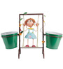 Wonderland Gril on Swing with 2 Pots