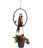 Wonderland Hanging Parrot in Ring with Pot