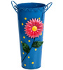 Wonderland Metal Flower Vase in Blue