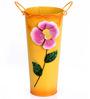 Wonderland Metal Flower Vase in Yellow