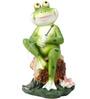 Wonderland Mini Frog on Rock Dcor