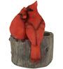 Wonderland Two Red Cardinal Birds on Flower Pot