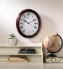 Wood Craft Brown Glass & MDF 11.6 x 1.5 x 13.6 Inch Wall Clock