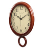 Wood Craft Brown Glass & MDF 11.6 x 1.5 x 16.5 Inch Wall Clock