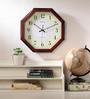 Wood Craft Brown Glass & MDF 13.7 x 1.5 x 13.7 Inch Wall Clock