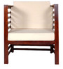 Woodinville One Seater Sofa in Provincial Teak Finish by Woodsworth