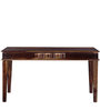 Woodway Six Seater Dining Table in Provincial Teak Finish by Woodsworth