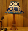 Woody Lamp House Blue Poly Silk Table Lamp