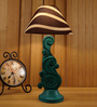 Woody Lamp House Brown Poly Cotton Table Lamp