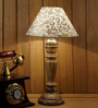 Woody Lamp House Gold Poly Cotton Table Lamp