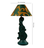 Woody Lamp House Green & Gold Poly Cotton Table Lamp