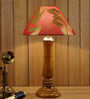 Woody Lamp House Red & Gold Poly Cotton Table Lamp