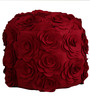 Woolen felt Pouffe in Red Colour by Purplewood