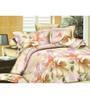 Wraps N Drapz Cotton Floral Double Bed Sheet Set - Set of 3