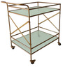 Wyndam Bar Cart in Antique Gold colour by Asian Arts