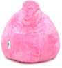Fur Bean Bag Cover without Beans in Pink Colour by Can