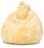 Fur Bean Bag Filled with Beans in Yellow Colour by Can