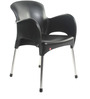 Xylo Cafeteria Chair Set of Two in Black Colour by Cello
