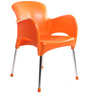 Xylo Cafeteria Chair Set of Two in Orange Colour by Cello