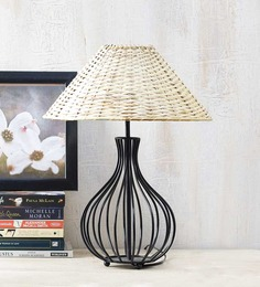 Yashasvi Off-white Cane Wood Lamp Shade