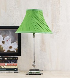Yashasvi Green Poly Cotton Lamp Shade