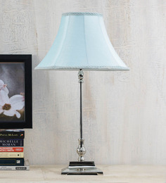 Yashasvi Blue Poly Silk Lamp Shade