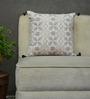 Yamini Cream Cotton 16 x 16 Inch Criss Cross Embroidered Cushion Cover
