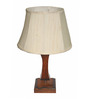 Yashasvi Drumatic Off-white Wooden Table Lamp