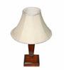 Yashasvi Khadi Cream Wooden Table Lamp