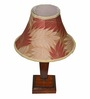 Yashasvi Leaf Cream Wooden Table Lamp