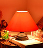 Yashasvi Orange Poly Cotton Table Lamp