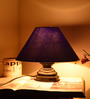 Yashasvi Blue Poly Cotton Table Lamp