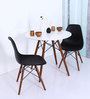 Yemon Accent DSW Eames Replica Chair (Set of 2) in Black Colour by Mintwud