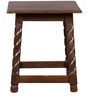 Yin Solidwood Stool in Walnut Colour by HomeTown