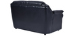 York Two Seater  Sofa in Black Leatherette by Furny