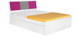 Young America Queen-Size Bed in Majenta Colour by Alex Daisy