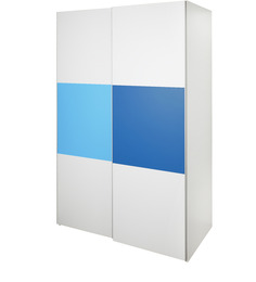 Young America Sliding Wardrobe in Blue and White Colour by Alex Daisy