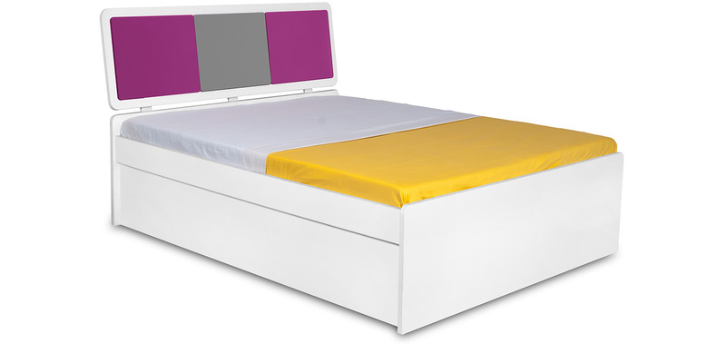 Young America Single Bed in Majenta, Grey & White Colour by Alex Daisy