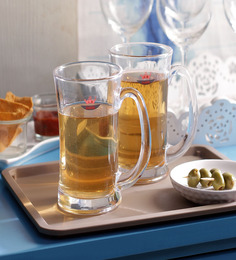 Yujing Aquatic Glass 500ML Beer Mug Set of 6