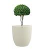 Yuccabe White Italia P Cup Large Polystone Planter